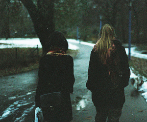 girl, friends, and snow image