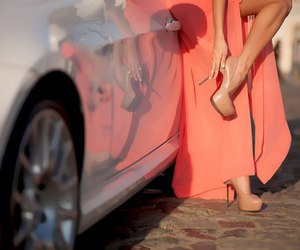 car, dress, and shoes image