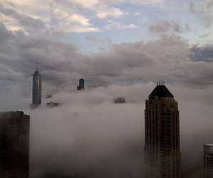 city, clouds, and fog image