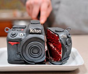 cake, nikon, and camera image
