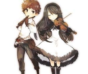 chibi, cute, and couple image