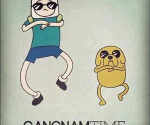 adventure time, gangnam style, and JAKe image