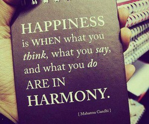 happiness, quote, and harmony image