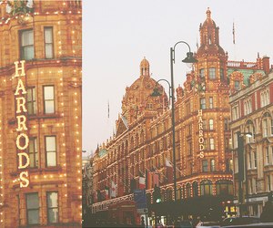 building, lights, and london image