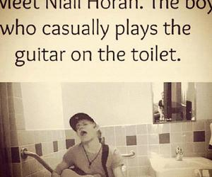 one direction, niall horan, and toilet image