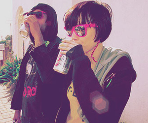 Crystal Castles, Alice Glass, and beer image