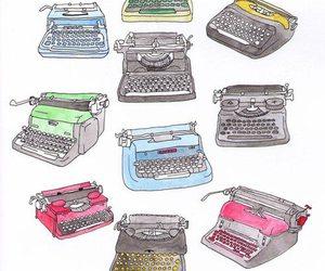 typewriter and drawing image