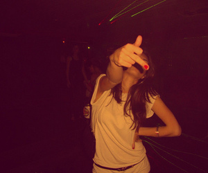 girl, night, and middle finger image