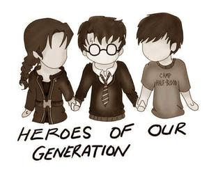 harry potter, percy jackson, and hero image