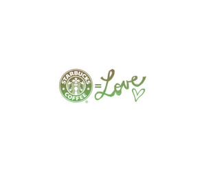 starbucks, love, and text image