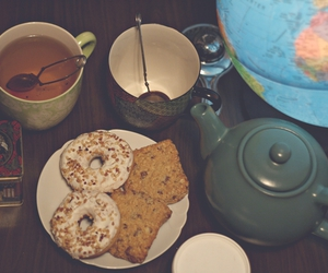 bread, cups, and donuts image