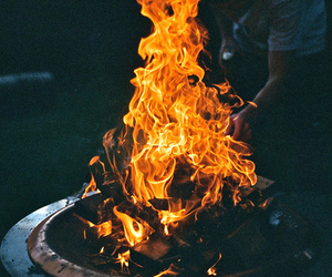 fire, photography, and bonfire image