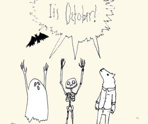 bat, happy october, and ghoul image