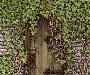 door, The Secret Garden, and garden image