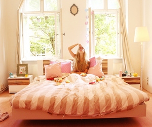 bed, bedroom, and creative image