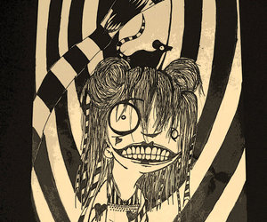 drawing, Emilie Autumn, and evil image