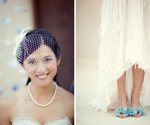 blue, shoes, and wedding image
