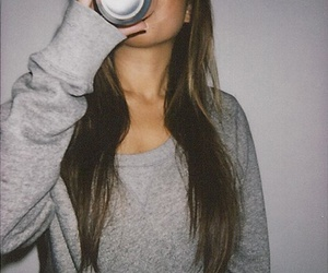 brunette, hair, and night image