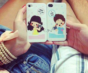couple, iphone, and cute image