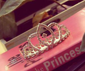 princess, pink, and crown image