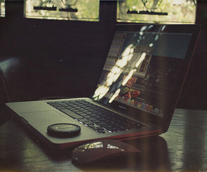 computer, laptop, and lighting image