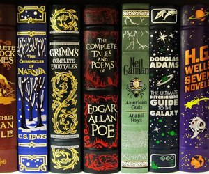 book, edgar allan poe, and narnia image