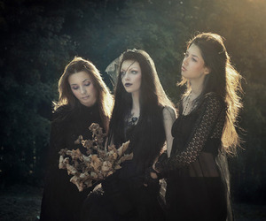 flowers, witch, and black image