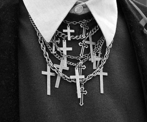 cross, fashion, and black image