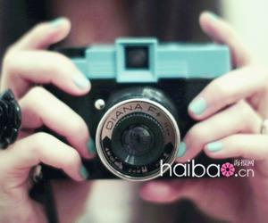 camera, green, and nail image