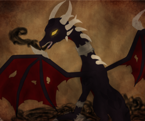 dragon, corrupted, and cynder image