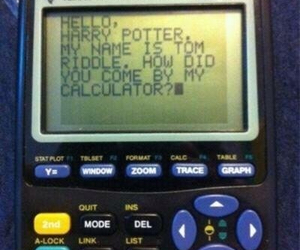 harry potter, funny, and calculator image