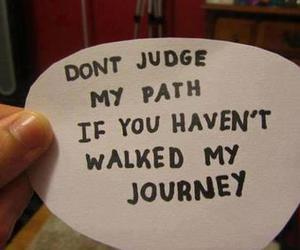 quote, journey, and judge image
