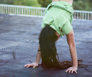 dreadlocks, hand stand, and dreads image