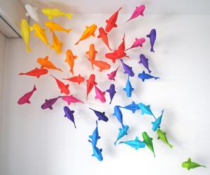 origami rainbow fish image