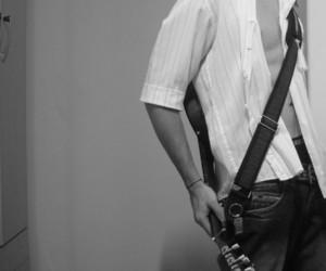 boy, rock, and guitar image