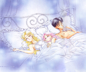 sailor moon, chibiusa, and mamoru image