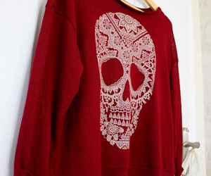 skull and red image