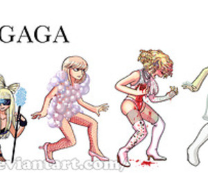 Lady gaga, evolution, and gaga image