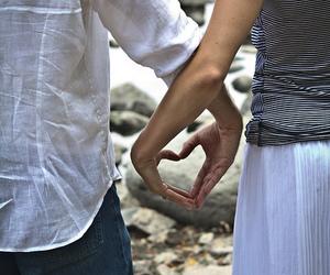couple, heart, and portrait image