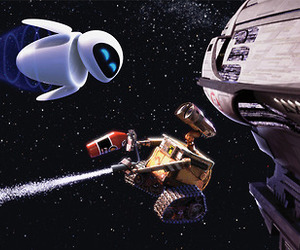wall-e, robot, and space image