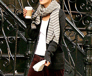 coffee, keira knightley, and scarf image