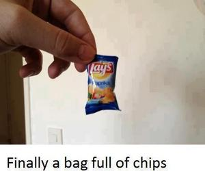 funny, chips, and lays image