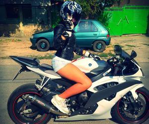 girl, motorcycle, and motorbike image