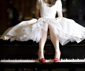 dress, girl, and shoes image