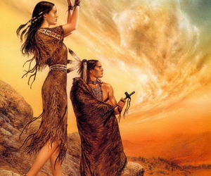 art, evolution, and native americans image