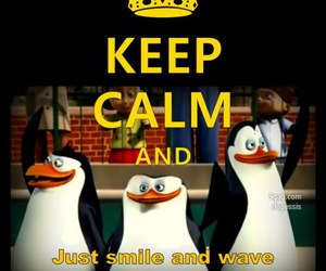 keep calm, penguin, and smile image