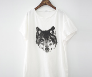 wolf, t-shirt, and tshirt image