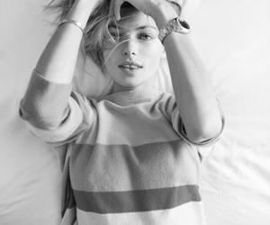 girl, photography, and b&w image