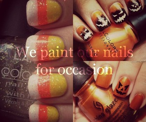 Halloween, nail art, and girl facts image