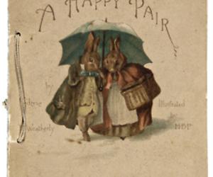 bunny, rabbit, and vintage image